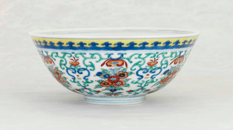 2014_CKS_01523_0336_000(a_doucai_floral-bouquet_bowl_daoguang_six-character_seal_mark_in_under)