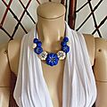 Les yoyos de calie - collier potirons royal blue