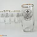 Vaisselle pub ... verres à bière pelican (1968) * fêtes du tricentenaire de lille