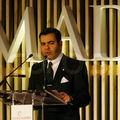 Crown Prince Moulay Rachid delivers a speech at an International Summit on Democracy, Terrorism and Security in Madrid, March 10, 2005.