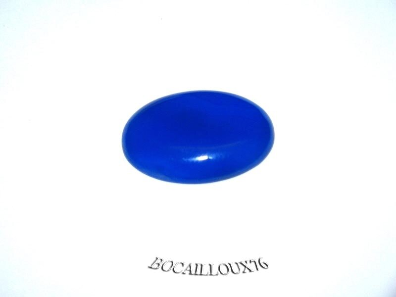 CABOCHON 18x25 AGATE BLEUE 1 - POUR CREATION