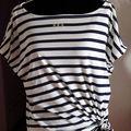 jersey coton blanc rayé marine (épuisé)