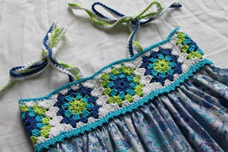 La robe granny bleu