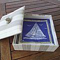L'habillage en tissu de boite en cartonnage