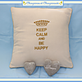 coussin Suzanne Keep calm and be happy