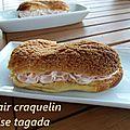 Éclairs a la crème de mascarpone et tagada