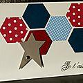 03. blanc, rouge, bleu et greige - hexagones