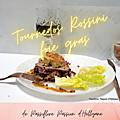 Rossini foie gras de canard sur son lit d'oignons confits