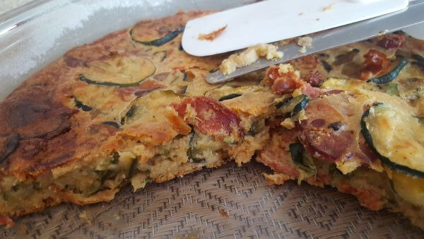 invisible courgettes-chorizo!