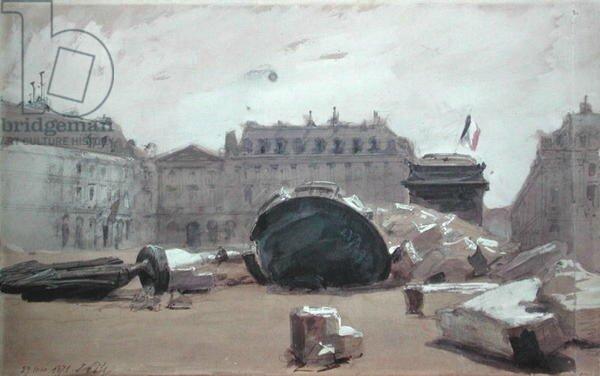 Pils, la chute de la colonne Vendôme