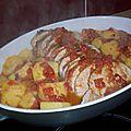 Rôti de porc à la moutarde et aux tomates