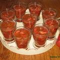 Verrines fraise-rhubarbe
