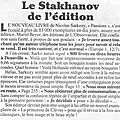 Le stakhanov de l'édition