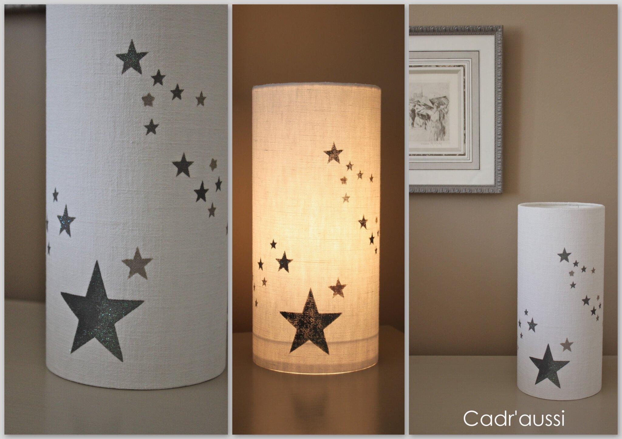 lampe ronde étoiles grises