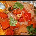 Papillote de poulet aux légumes