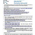 Fiches bibliographiques: education pour la santé; epidémiologie; santé publique - ehesp