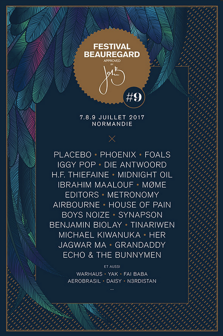 playlist hebdo #40 • lundi 03-07-2017 • spécial festival Beauregard 2017