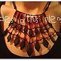 collier fimo et perles rouges sénégal