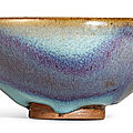 An Exceptionnaly Fine and Superb Junyao Purple-Splashed Bubble Bowl, Northern Song dynasty (960-1127)