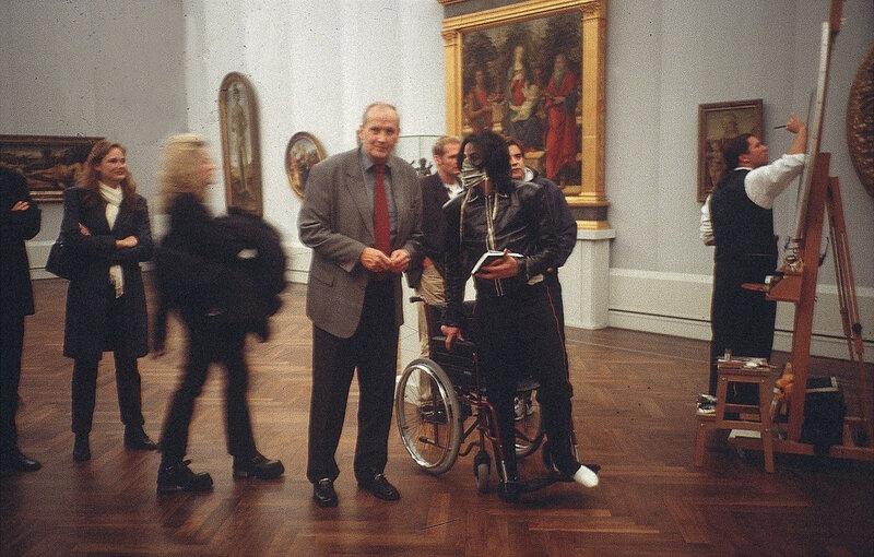 La Madone Bardi et le Saint Sebastien de Botticelli derrière