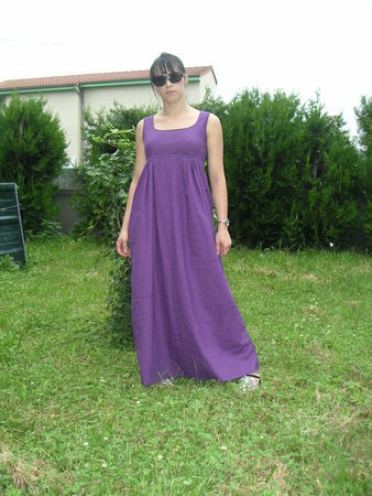 Robe violette empire