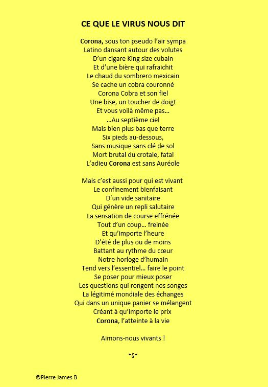 Le Covid 19 poème