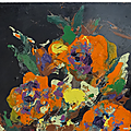 Collection ... tableau le bouquet colore * pierre piget