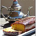 Cake oriental {amande, miel, orange et fleur d'oranger}