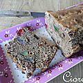 Cake au sarrasin et fruits confits
