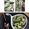 Salade d'avocats, jambon et ananas