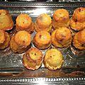 Mini cannelés chorizo/ gruyère