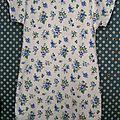 Chemise de nuit en piqué de coton