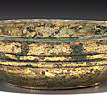 A gilt-bronze bowl, han dynasty (206 bc - ad 220)