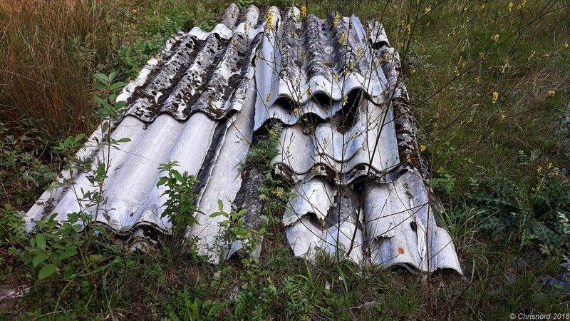 Liessies-Plaques ondulées de toiture (amiante)