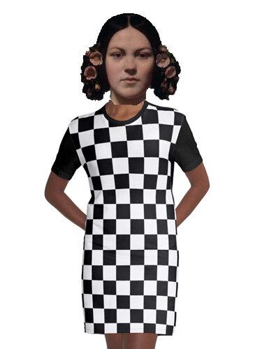 2019 06 28 - Isaure en robe à damier pour DDS 565