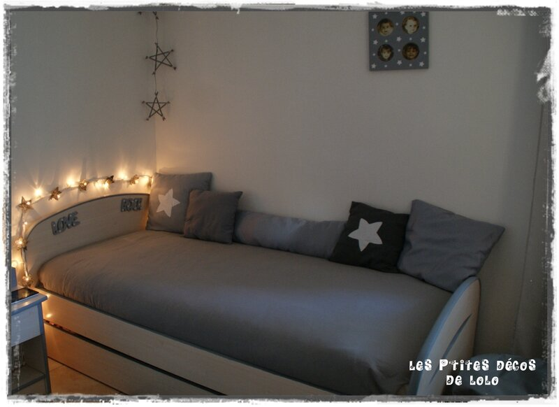diy d co chambre de fille une guirlande lumineuse toil e les p 39 tites d cos de lolo. Black Bedroom Furniture Sets. Home Design Ideas