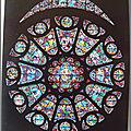 Reims 2 - Cathédrale - Rose de transept sud