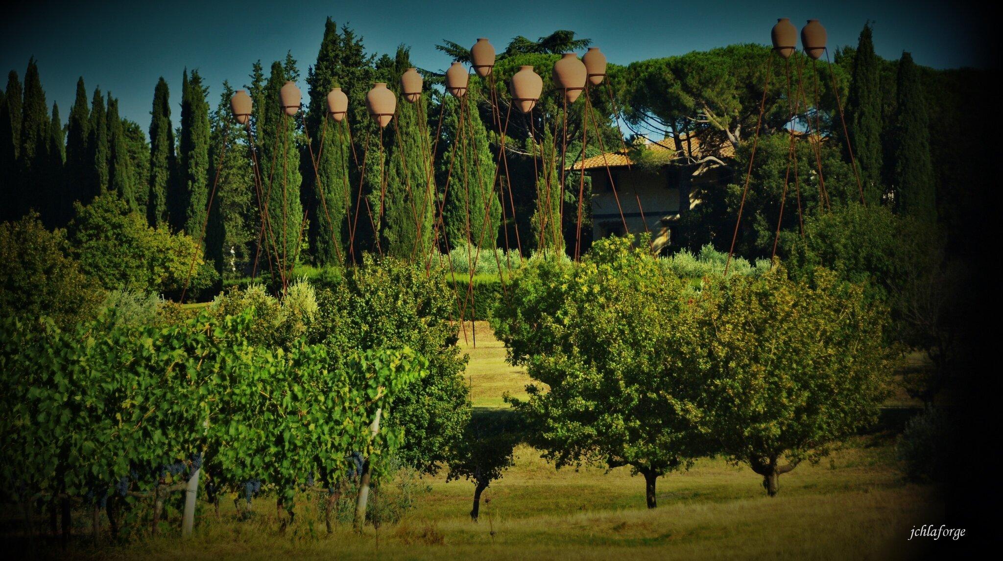 Toscane viticole et artistique.