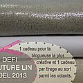 Défi couture lin - noël 2013