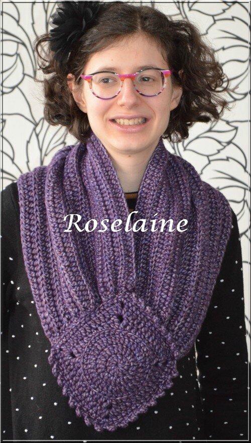 Roselaine 28 écharpe granny lion brand