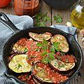 Aubergines grillées à la tomate & à l'ail #vegan
