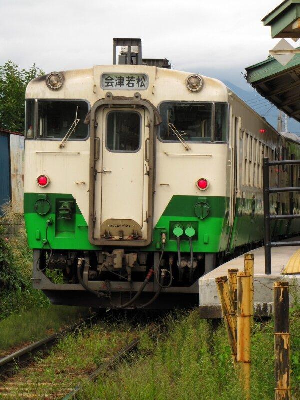 キハ47, Nanukamachi eki,Tadami line (Aizu-Wakamatsu)