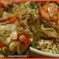 Le sucré s'invite chez le salé #8 : legumes de saison confits au miel sur lit de quinoas croquants
