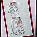 39. rose, vanille et rouge - fillette déguisée