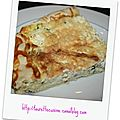 Tarte aux courgettes / fromage fines herbes.