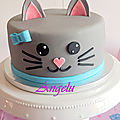 Gâteau chat - cat cake