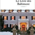 Le livre des Baltimore de Joël Dicker