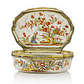 Three 18th century saint cloud chinoiserie snuff boxes from the helmut joseph collection