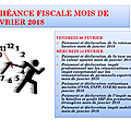 Calendrier fiscal de janvier a septembre 2018 / tax schedule from january to september 2018