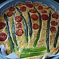 Tarte aux asperges et tomates